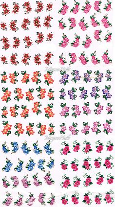 20 x Nail Art One Stroke Sticker - Profi Nageldesign Shop - Nail Art - Naildesign One Stroke, Nail Stickers, Planner Stickers, Free Planner, Light Hair, Pinterest Blog, Learn To Draw, Beauty Nails, Shops