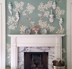 Elegant Wallpaper Ideas - Interior Designers on Instagram - House Beautiful although not much of a wallpaper person most of these I like.