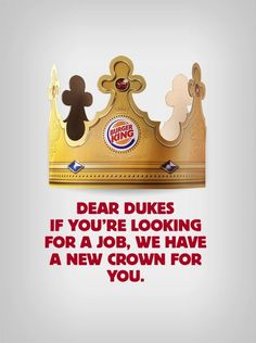Burger King Argentina wants Harry and Meghan to don a different kind of crown — one of the paper variety — by offering them a job with the fast-food chain. The Daily Show, Burger King Uk, Burger King Crown, Red Agency, Ad Of The World, Kings Crown, Branding, Creative Advertising, Prince Harry And Meghan