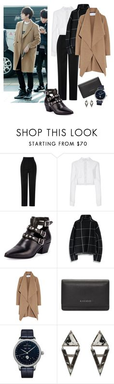 """Kim Taehyung"" by bts-airport-outfits ❤ liked on Polyvore featuring Antonio Berardi, Carolina Herrera, Yves Saint Laurent, Chicwish, Harris Wharf London, Givenchy, Jaquet Droz and ADORNIA"