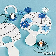 Penguin & Igloo Catch Game Craft Kit. Help the penguin find his way inside the igloo! Foam. 5 1/2 All craft kit pieces are pre-packaged for individual use. ...