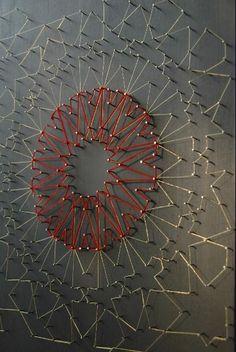 lateefaspiker.com   ....loving this idea of creating geometric patterns like this - looks like Islamic art.