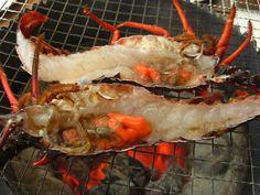 一般的な炭火はこの鬼殻焼き Minami, Shrimp, Seafood, Japan, Cooking, Sea Food, Kitchen, Japanese, Brewing