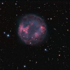 Very faint planetary nebula Abell 7 is some 1,800 light-years distant, just south of Orion in planet Earth's skies in the constellation Lepus, The Hare. A planetary nebula represents a very brief final phase in stellar evolution that our own Sun will experience 5 billion years hence, as the nebula's central, once sun-like star shrugs off its outer layers. Abell 7 itself is estimated to be 20,000 years old. Its central star is seen here as a fading white dwarf some 10 billion years old.