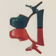 1973 | Sergio Rossi platform shoes  [When it was based in] San Mauro Pascoli | Forlì-Cesena Weird Fashion, 1960s Fashion, Fashion Shoes, Vintage Fashion, Mode Vintage, Vintage Shoes, Vintage Outfits, Vintage Closet, Vintage Style