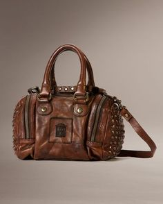 Brooke Small Satchel - Brown
