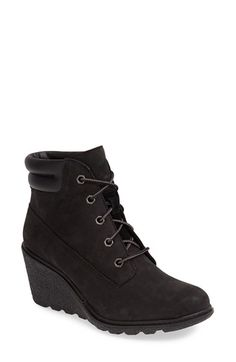 Timberland Earthkeepers® 'Amston' Boot (Women) at Nordstrom.com. A striking wedge heel provides a feminine update for a classic workwear boot designed with Timberland Earthkeepers' eco-conscious philosophy and constructed using sustainable, recycled materials.