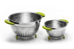 Who can't live without a solid set of colanders? Silicon soft touch handles, and feet that keep the base free to drain easily! Mixer, Harvey Norman, Kitchenware, New Homes, Kitchen Appliances, Berry, Turkey, Base, Touch