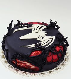 Black spiderman cakes - photo#43