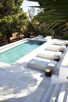 Very sharp sand or limestone pool area