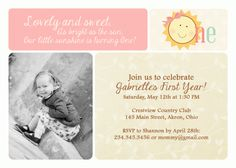 Sunshine Birthday Baby Shower Invitation Thank You Note Favors Address Labels Custom Photo (Powered by CubeCart) Photo Birthday Invitations, Card Birthday, Baby Shower Invitations, Sunshine Photos, Sunshine Birthday, Thank You Notes, Custom Labels, Address Labels, Custom Photo