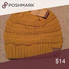 C.C Beanie Mustard color beanie C.C Accessories Hats
