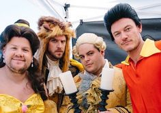 """VIDEO: Josh Gad, Luke Evans, Dan Stevens hilariously perform low-budget """"Beauty and the Beast"""" on public crosswalk for """"Late Late Show"""""""