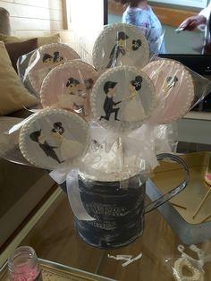 #weddingcookie #Galletasboda candy bar, galletas con palo