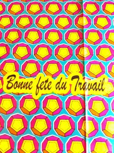 African Wax Print Fabric by the HALF YARD.  Campaign slogan in yellow, hot pink, turquoise and white. - pinned by pin4etsy.com