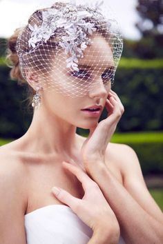 Beautiful Birdcage Bridal Veils