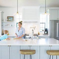 farmhouse kitchen. white tile