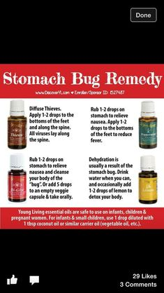 Essential oils for stomach bugs