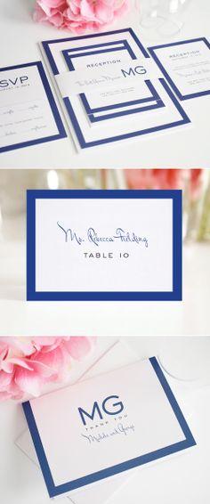 modern wedding invitations with blue monogram #shine #stationery #invitations #monogram http://www.shineweddinginvitations.com/blog/modern-wedding-invitations-in-blue-with-monogram/