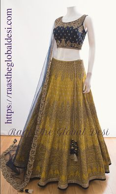Fulfill a Wedding Tradition with Estate Bridal Jewelry Indian Fashion Dresses, Indian Gowns Dresses, Indian Designer Outfits, Pakistani Dresses, Designer Dresses, Pakistani Suits, Lehenga Gown, Lehnga Dress, Indian Lehenga