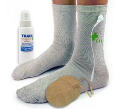 Premium Conductive Socks Pair Package for TENS Pain Treatment Earthing Tarsal Tunnel Inflammation Arthritis Nerve and Joint Pain Electrotherapy 1 PAIR  Silver Thread  One Size Fits Most ** Click image to review more details.
