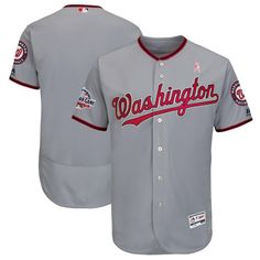 313a805cc Men s Washington Nationals Majestic Gray 2018 Mother s Day Road Flex Base  Team Jersey