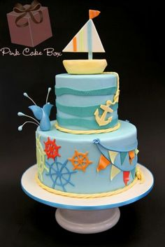 Nautical cake by pink box cakes