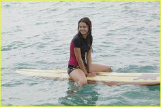 Maia Mitchell on set of Teen Beach Movie