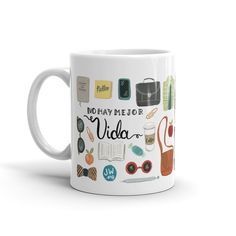 Who doesnt have coffee before service? This mug features some essentials for a day in the ministry, including items for both brothers and sisters. Best part is its now available in Spanish! The design includes different elements used in the ministry as well as the message No Hay Mejor Vida - this truly is the best life ever!  Its a perfect gift for yourself, a coffee or tea loving pioneer, or just about anyone who is in service to Jehovah. Heres some extra details:  • 11-ounces  • Microwave…
