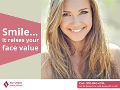 #Smile…it raises your #face value. If you are seeking #Teethwhitening services in #Brampton to smile your worries away, give us a call on 905-846-4334 today!