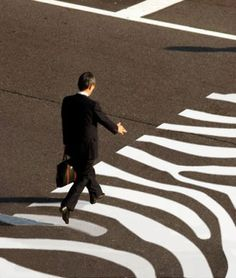 zebra crosswalk...