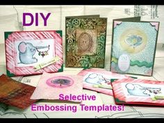 DIY_making a frame on your embossed paper