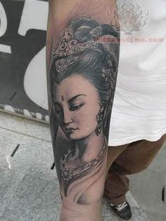 Buddhist Goddess Forearm Tattoo