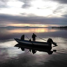 Just a short drive from the castle is Lago Trasimeno. Here fishermen drop their line at sunset. #trasimeno #umbria by castellodelleserre