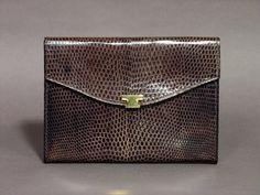 Portefeuille Femme en Peau de Lézard - Portefeuille Cuir Véritable Le Tanneur - Mode Femme Rétro 1950 - Accessoire Cuir Fabriqué en France