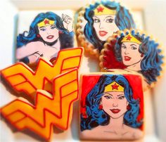 Wonder Woman Inspired Painted Sugar by CompassionateCake