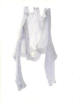 Stripy Blue Shirt in a Breeze, 2004 (w/c on paper) by Miles Thistlethwaite on The Bazaar Selling Art, Surprise Gifts, Breeze, Ruffle Blouse, Paper, Polyvore, Laundry, Blue, Stuff To Buy