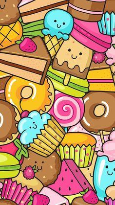 Cupcakes wallpaper pastel background candy cute wallpapers iphone kawaii also dessert casetify art design illustration rh Kawaii Wallpaper, Colorful Wallpaper, Cartoon Wallpaper, Cool Wallpaper, Cute Backgrounds, Cute Wallpapers, Wallpaper Backgrounds, Iphone Wallpaper, Kawaii Doodles