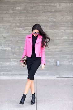 Love this pink jacket on who else... Rach from the Pink Peonies!