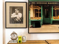 "The photograph of Ms. Bareilles's father, Paul, was taken when he appeared in an amateur production of ""The Odd Couple."" The photograph of Vesuvio Bakery, once a SoHo fixture, is by Zeny Cieslikowski."