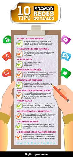 10 consejos para potenciar tu Marca en Redes Sociales #infografia #marketing #socialmedia
