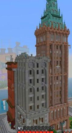 Minecraft City, Minecraft Construction, Minecraft Projects, Minecraft Designs, Minecraft Ideas, Minecraft Houses, Minecraft Decorations, Minecraft Blueprints, Post Apocalyptic