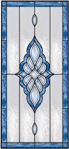 Very nice!  How impressive that the blue border surrounding the central bevel cluster consists of only 4 pieces of glass!
