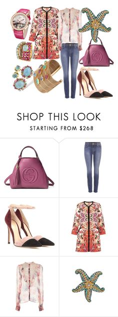 """""""Без названия #11192"""" by zhebiton ❤ liked on Polyvore featuring Brumani, Gucci, J Brand, Gianvito Rossi, Etro and LUISA BECCARIA"""