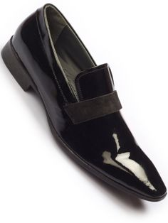 Brut-B-12 Loafers by #Hitz ,Made from leather, Penny bar, Suede vamp, Patent leather body, Slim sole and stacked heel #onlineshopping #hitzshoes