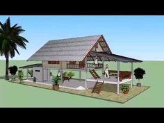 บ้านหลังคาจั่ว หลังเล็ก Sketchup by : i. pakdee - YouTube