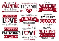 Valentine's Day greeting tags vector Valentines Day Greetings, Happy Valentines Day, Word Art, Vector Free, Clip Art, Lettering, Make It Yourself, My Love, Google Drive