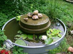 trough and millstones water garden