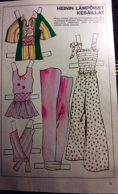 Heini Wathen, Finnish paper doll 1970s (3 of 3)