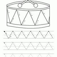 Printable Pre-print Zigzag Lines - Printable Preschool Worksheets - Free Printable Worksheets